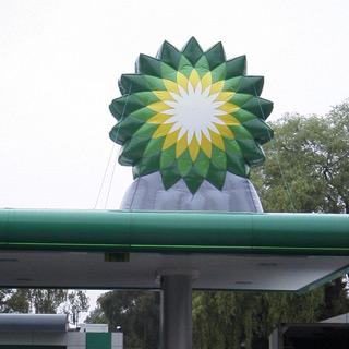 Aufblasbares Logo für Tankstellendächer